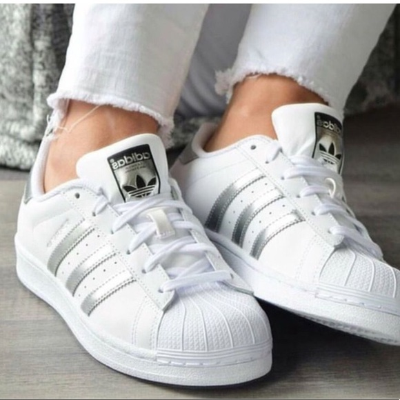 separation shoes 6dbb7 20787 adidas Shoes - ❗ Superstar Silver Stripe Shoes